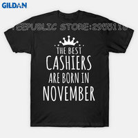 Gildan Create Shirts Online Short Sleeve Women Top The Best Cashiers Are Born In November O