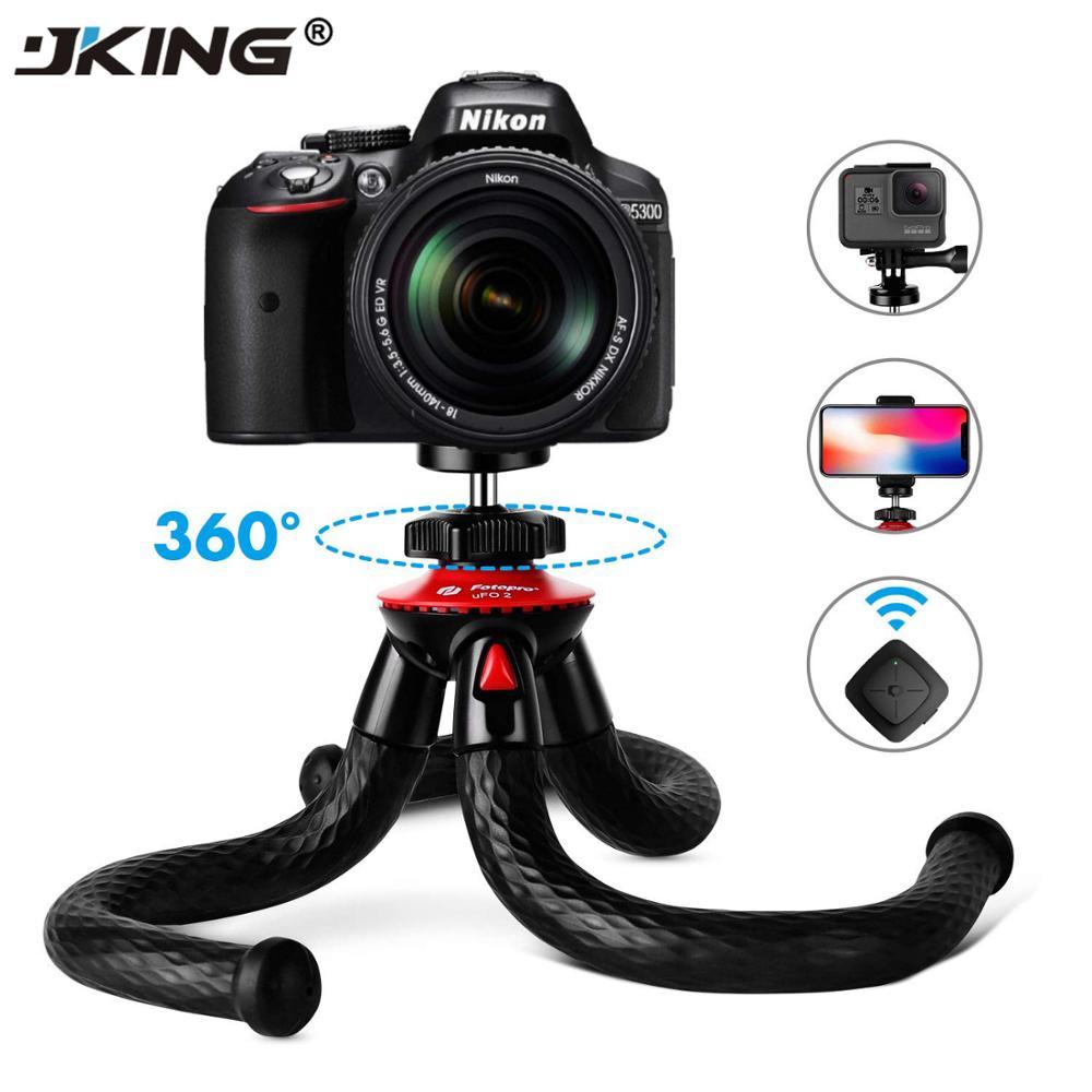 JKING UFO Flexible Octopus Camera Tripod With Ballhead Bundle,Phone Video Gear Mini Tripod For Phone X Gopro 4 5 6 Samsung