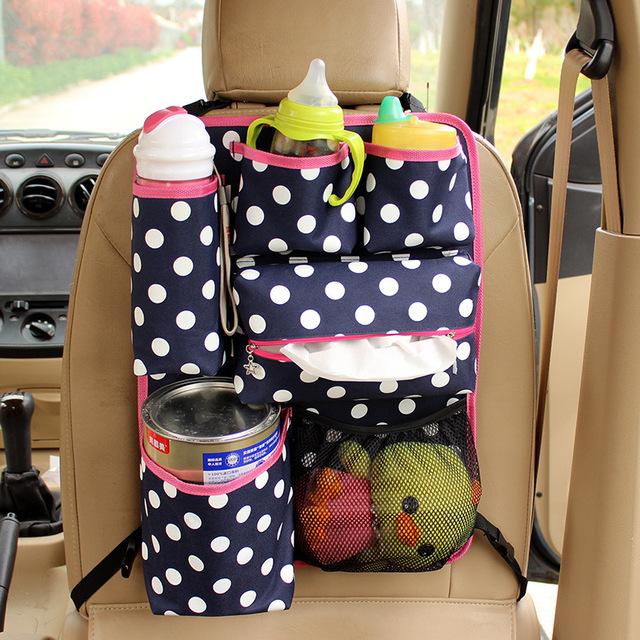 Crianças Organizador Saco De Armazenamento Oxford Durável de Volta Organizador Do Assento de Carro Auto Banco Traseiro Bolso Arrumar Coisas de Bebê Sacos Pendurados