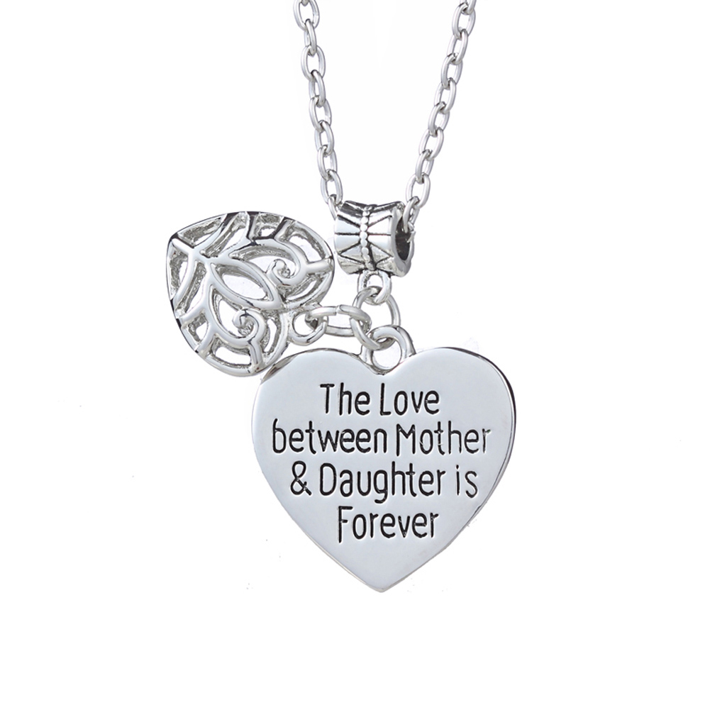 Hot Sale Gift for Mom girl friend You are My World Heart the love between mother and daughter is foevernecklace image