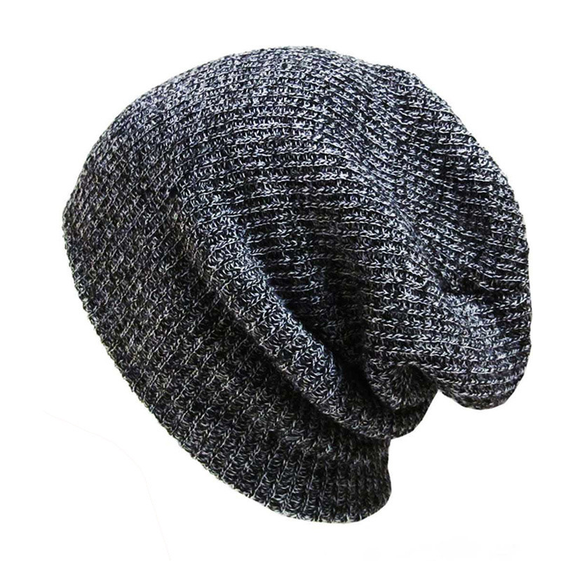 2019 New Fashion Loose Knitted Hat   Beanie   Hats Warmth Warm Caps Winter Outdoor Bonnet Skiing Soft Cap Men Women Solid Hip-hop