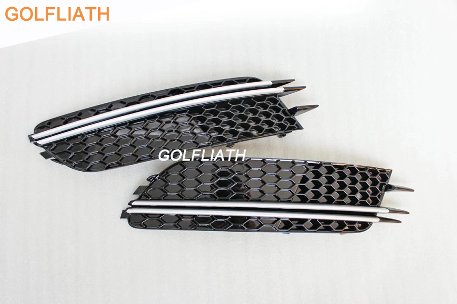 GOLFLIATH One Pair of RS6 mesh grill Auto Car Front Lower Bumper Grilles side fog light Grille for Audi A6 C7 2012-2014 автокресло cybex cybex автокресло aton m graphite black