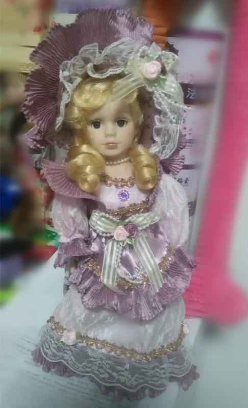 30cm purple retro porcelain doll simulation ceramic dolls, European, Victorian style, porcelain doll simulation doll