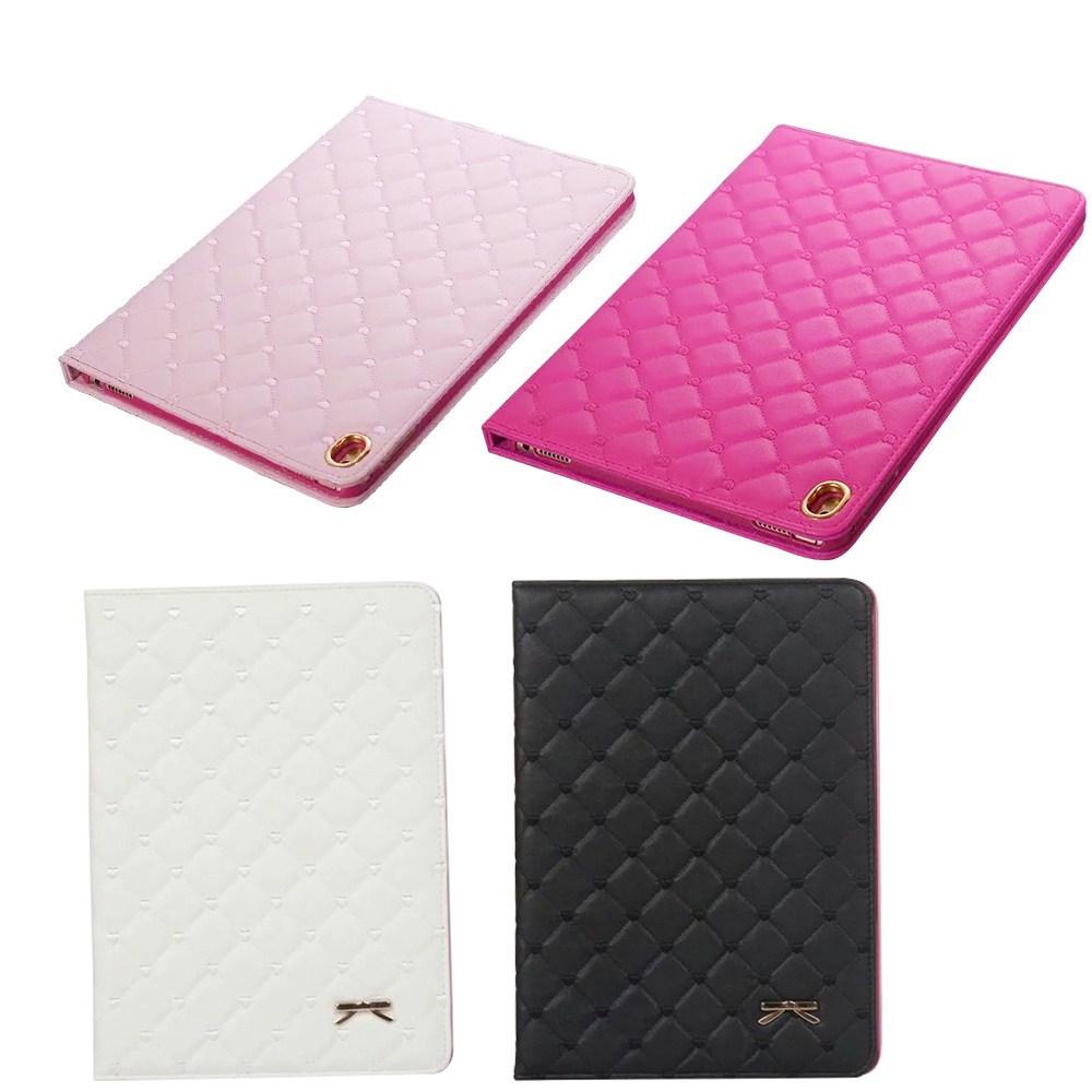 Bowknot Case For Ipad Air 1 2 Para Case For Apple Ipad Mini 1 2 3 4 For Ipad 2 3 4 PU Leather Protective Cover Sturdy Stand