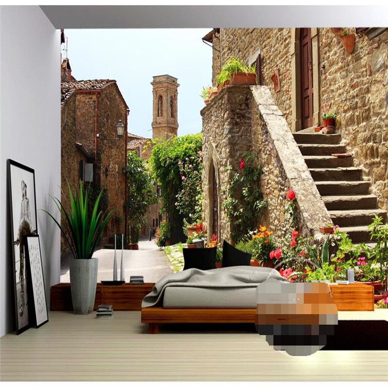 living wall background building mediterranean painting mural europe zoom decor wallpapers