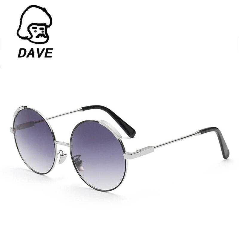 DAVE Vintage Round Sluneční Brýle Dámské Luxusní Značkové Móda Velkoformátové Sluneční brýle Dámské brýle Vysoce kvalitní odstíny Oculos De Sol