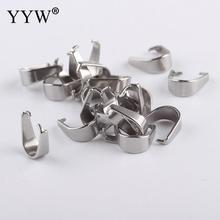 silver 100pcs 4*9mm stainless steel pinch bail diy pendant bails for jewelery making accessories все цены