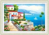 5d Diy Diamond Painting Mediterranean Natural Diamond Embroidery Diamond Diamond Mosaic Stitch Suit Picture Beautiful Gift