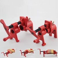 3/4 and 1/2 Heavy Duty Pipe Clamp Woodworking Wood Gluing Pipe Clamp 3/4 and 1/2 Pipe Clamp Fixture Carpenter Woodworking Tools