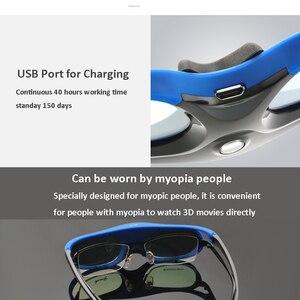 Image 5 - 6 шт., активный затвор, 96 144, Гц, перезаряжаемые 3D очки для Optama/Acer/BenQ/ViewSonic/Sharp/Dell DLP Link, проекторы DLP 3D Ready