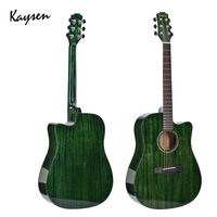 Kaysen 41inch Acoustic Guitar High gloss Solid Mahogany veneer Guitarra 6 Colors Red Blue Green Guitar Top Quality Wooden AGT106