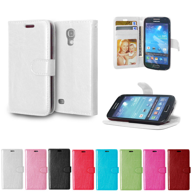 Leather Case For Samsung Galaxy S4 mini S 4 i9195 i9190 i9192 Duos Flip Phone Cover For S4mini 4mini GT-i9195 GT-i9190 GT-i9192