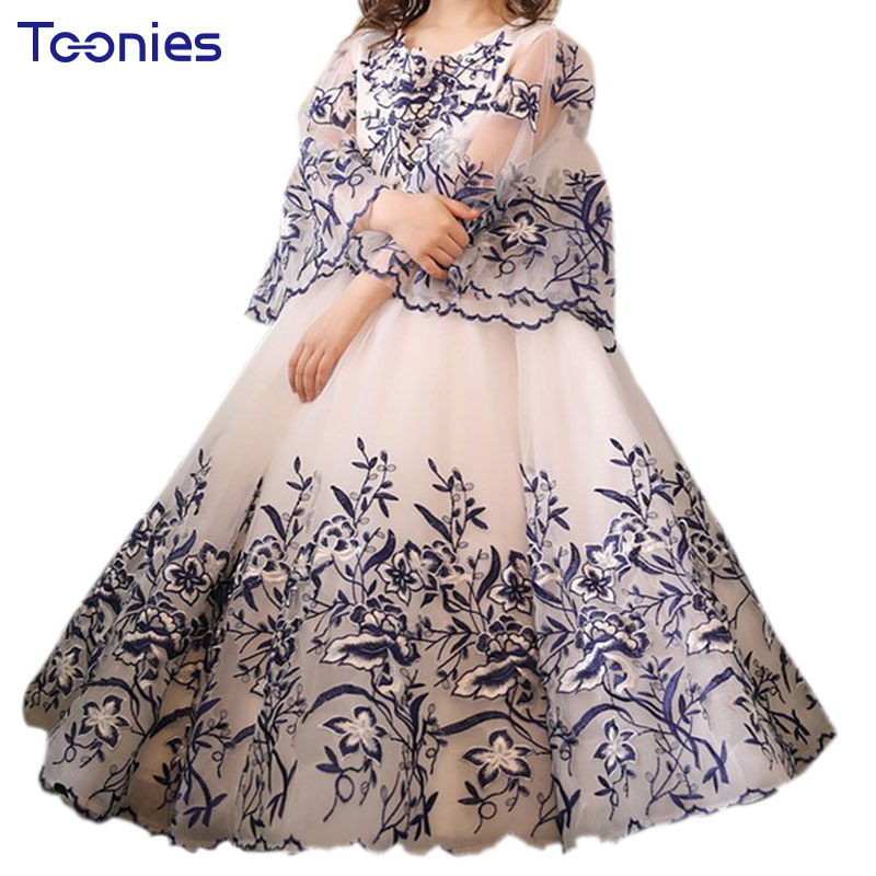Party Evening Princess Girls Dress Gorgeous Ball Gown Child Toddler Costume Wedding Birthday Girl Dresses Pageant Flower Clothes summer flower girl wedding dress toddler floral kids clothes lace birthday party graduation gown prom dresses girls baby costume