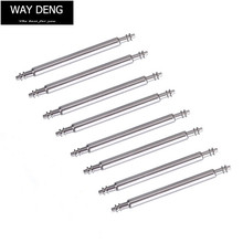 110 pcs Pack Silver Stainless Steel Spring Bars Mixed 8mm -