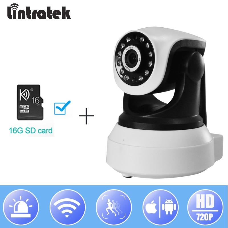 Lintratek Wireless IP Camera 720P Wifi Surveillance CCTV Camera 16G TF Card Security PTZ P2P Wi-fi IPCam#20Lintratek Wireless IP Camera 720P Wifi Surveillance CCTV Camera 16G TF Card Security PTZ P2P Wi-fi IPCam#20