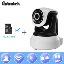 hot deal buy lintratek wireless ip camera 720p wifi surveillance cctv camera 16g tf card security ptz p2p wi-fi ipcam