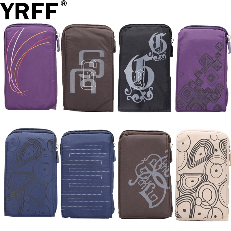 YRFF Sportslommebok Mobiltelefonveske Utendørs Army Cover Case for Multi Phone Model Hook Loop Belt Pouch Holster Bag