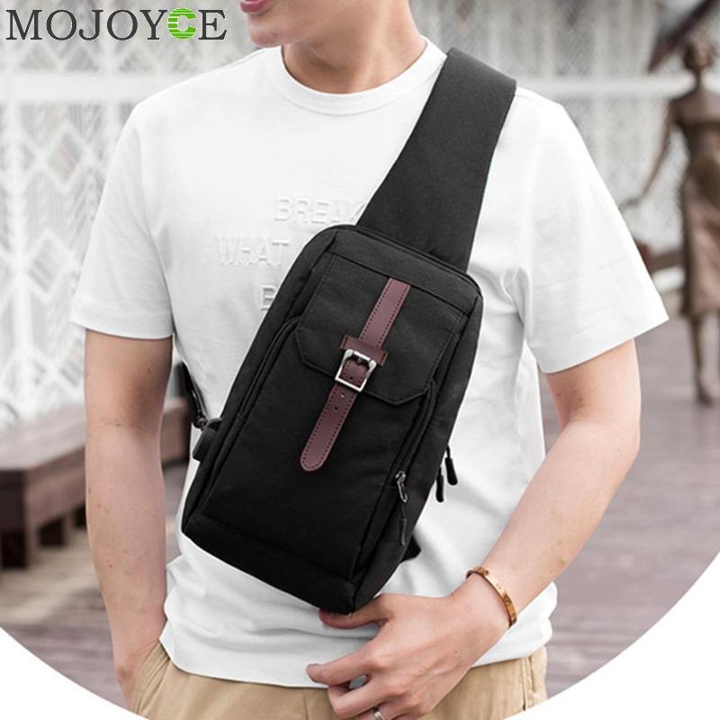Nylon Männer Brust Pack USB Lade Einzigen Schultergurt Zurück Crossbody Beutel für Frauen Sling Umhängetasche Rucksack reise