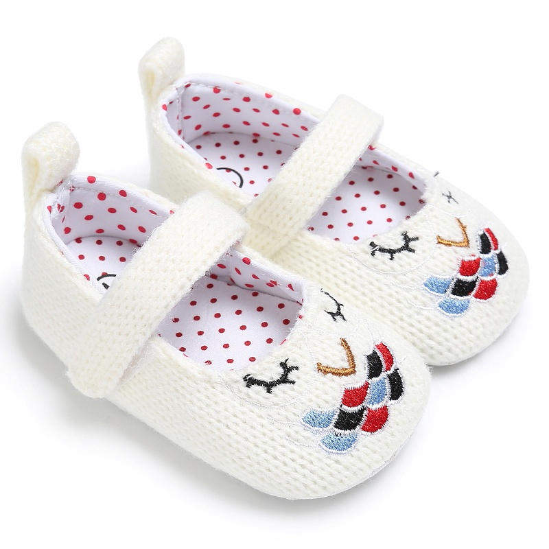 Kids Girls Fashion Spring Cute Vintage Princess Style Embroidery Anti-skid Casual Baby Cack Shoes ...