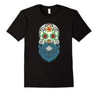 Day Of The Dead Sugar Skull Blue Beard T Shirt Custom Made Good Quality T Shirt