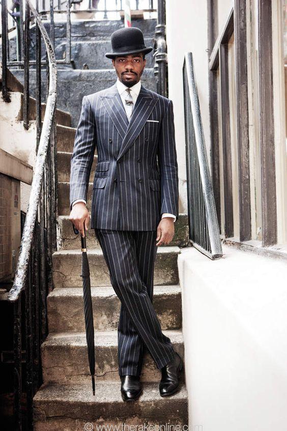 font b Custom b font font b Made b font Slim Fit Gentleman Stripe Men