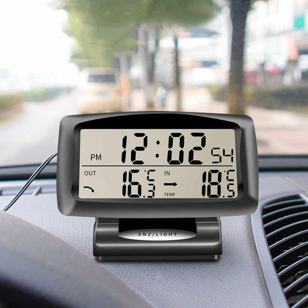 New 2 in 1 Car Auto Thermometer Clock Calendar LCD Display Screen sell like hot cakes Multipurpose Suitable for many models