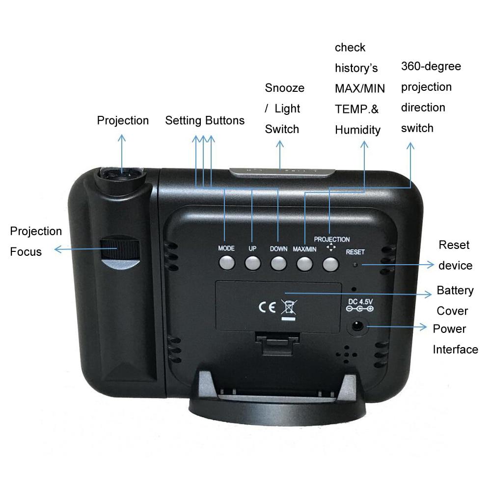 Projektimi dixhital Ora e motit e alarmit Projektimi me temperaturën - Dekor në shtëpi - Foto 6