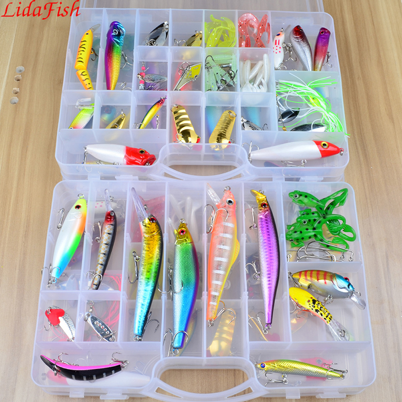 Fire all over Europe and America 69 road sub-bait set large double-layer box perch can kill fishingpesca