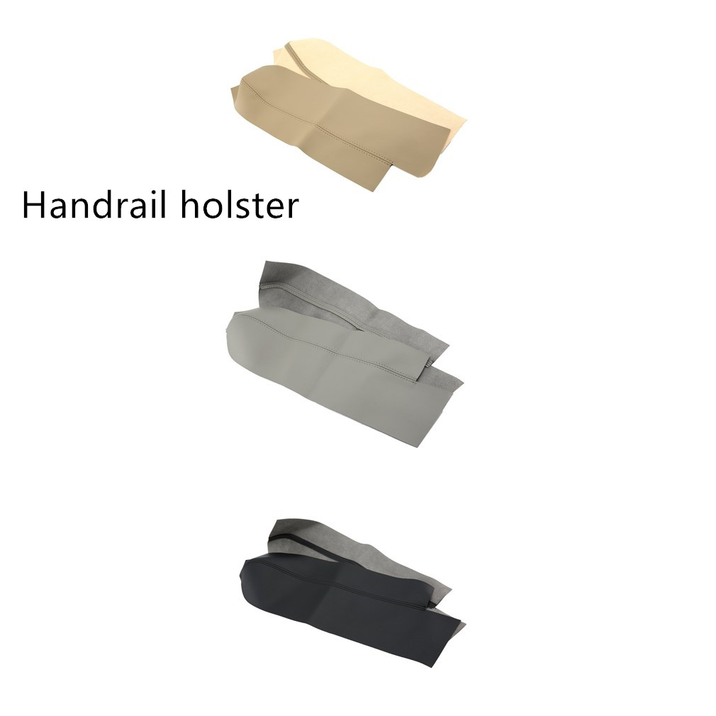 1 Pair Left And Right Real PU Leather Car Front Door Panels Armrest Covers For Honda/CRV 2007-2011