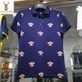 Клиренс Высокое Качество Пчелы или бабочка Ситец Мужчины Polo рубашка С Коротким Рукавом Мужская Polo Рубашки Новый 2016 Летом Плюс размер