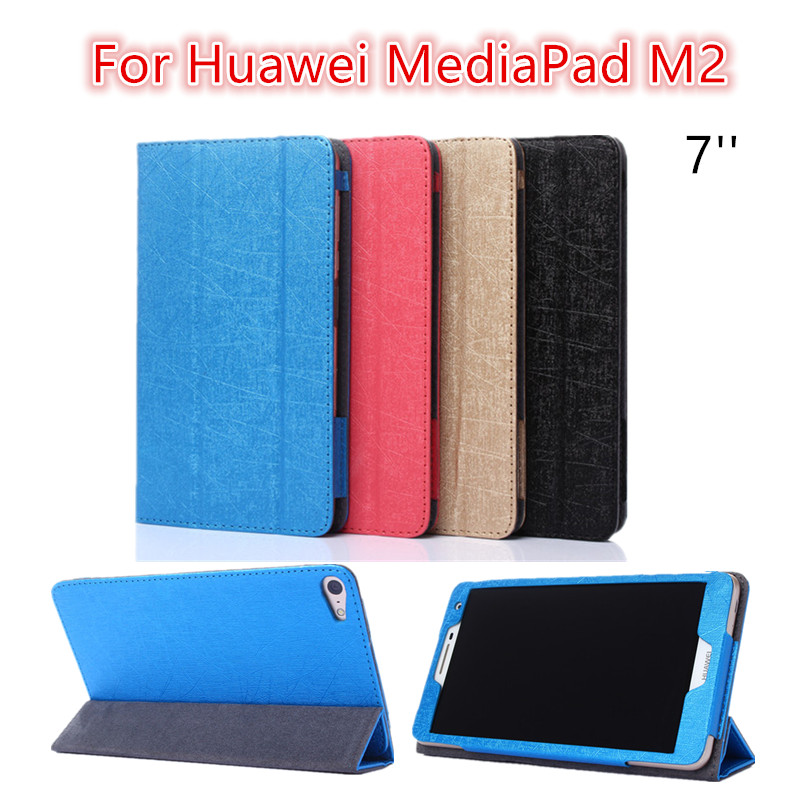 For mediaPad M2 Ultra thin Smart Filp pu leather Case cover For Huawei MediaPad M2 7'' tablet case stand cover protective stand