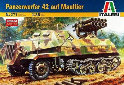 Out of print! Panzerwerfer 42 auf Maultier, Italeri, Part #277, 1/35 Scale, model kit out of print italeri 1 24 scania r143 streamline tractor cab special edition kit itl726