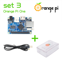 Orange Pi One Set3: Orange Pi One+ Transparent ABS Case+ USB to DC 4.0MM - 1.7MM Power Cable Support Android, Ubuntu, Debian