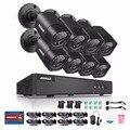 Annke 4 em 1 tvi cctv kit dvr 8 pcs 1.0 mp 720 p ao ar livre sistema de câmera de segurança de vigilância em casa no hdd