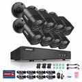 Annke 4 en 1 kit dvr cctv tvi 8 unids 1.0 mp 720 p outdoor home vigilancia seguridad cámara de sistema no hdd