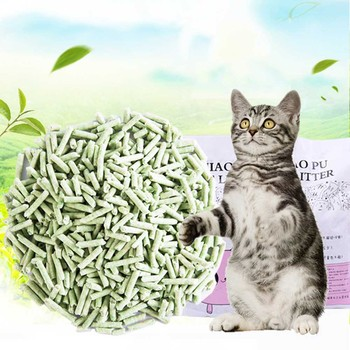 Green tea high efficiency dust free water absorption litter 1