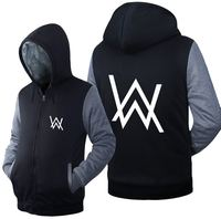 FL AEVVE Men Hoodies Alan Walker Fade DJ Clothing Unisex Adult Thicken Hoodies Zipper Coat Jacket
