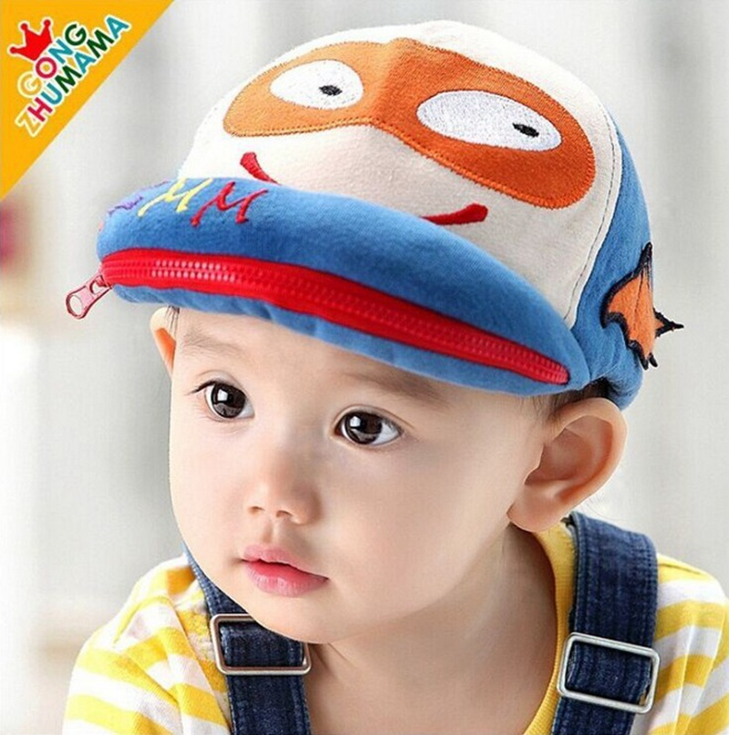 new fashion newborn baby boy hats cotton baby batman cap cute