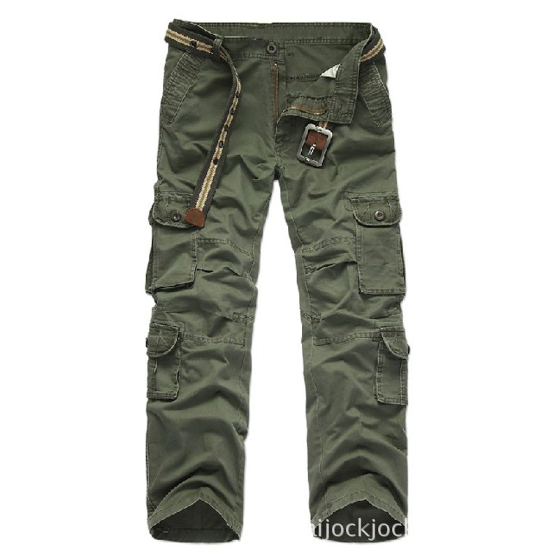 Men's military Pocket cargo pants Men camouflage army sweat pant 2017 Spring Casual pants Plus size 28 38 wear durable - 5