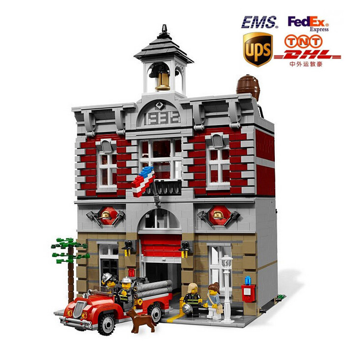 ФОТО New Arrival DHL Fedex Shipping LEPIN 15004 2313Pcs Fire Brigade Office Building Model blocks