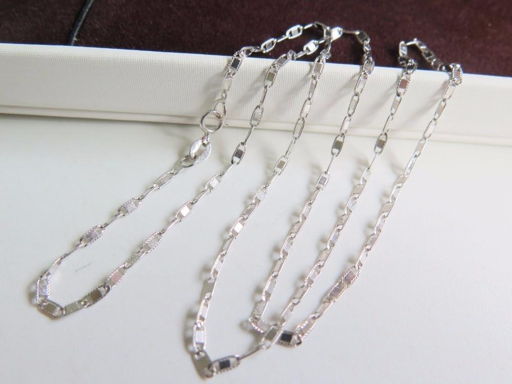 097a845466f5 New Pure 18 K oro blanco único anthor collar 45 cm L - GigaTube.cf
