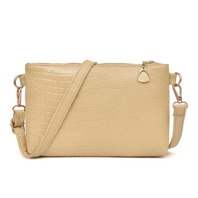 2018 nuevo bolso de mensajero para mujer, bolso de moda con patrón de cocodrilo, bolso de hombro, Bolso pequeño para mujer, monedero O0514 #30
