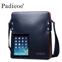 Ipad bag leisure male package real leather shoulder bag men bag leather business small designer bags brie
