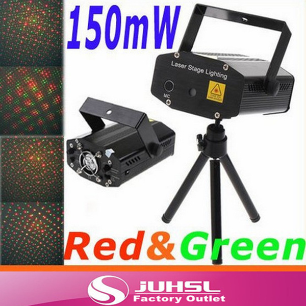 High Quality,150MW  Mini Red&Green Moving Party Laser Stage Light laser DJ party light Stage Twinkle With Tripod 100mw650nm cross red laser head high power red positioning marking instrument high quality