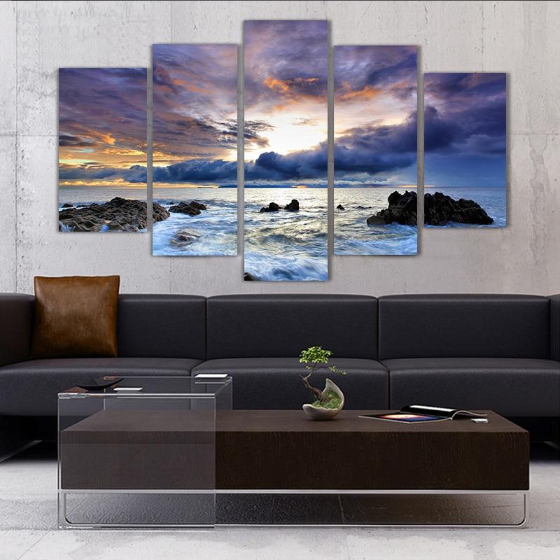 5 komada uokvireno Zidna umjetnička slika Poklon uređenje doma - Kućni dekor - Foto 2
