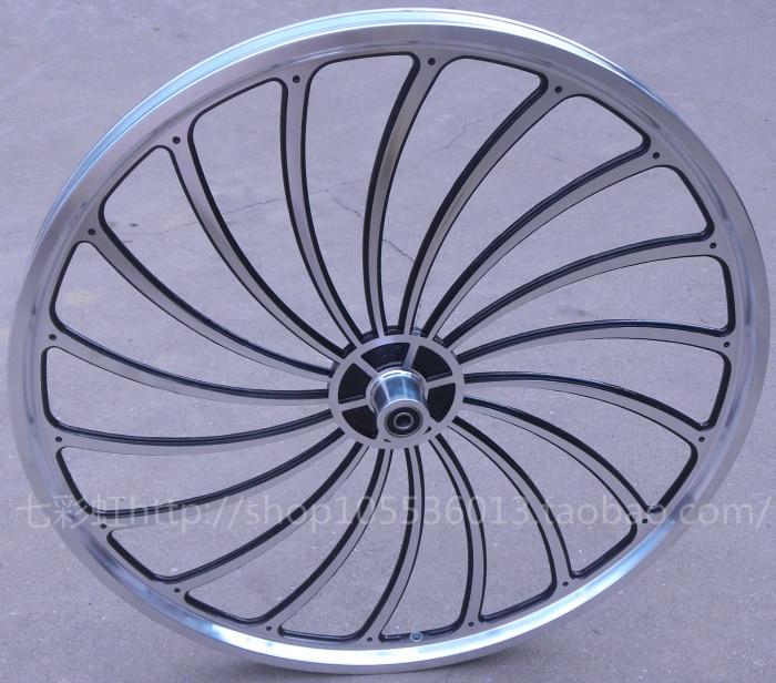 bicycle wheel 16inch /  20 inch  general bicycle one piece wheel aluminum alloy wheel wire folding bike felly rim herd round  aluminum wheels 20 hollow wheel bicycle one piece aluminum alloy wheel wire whole felly rim