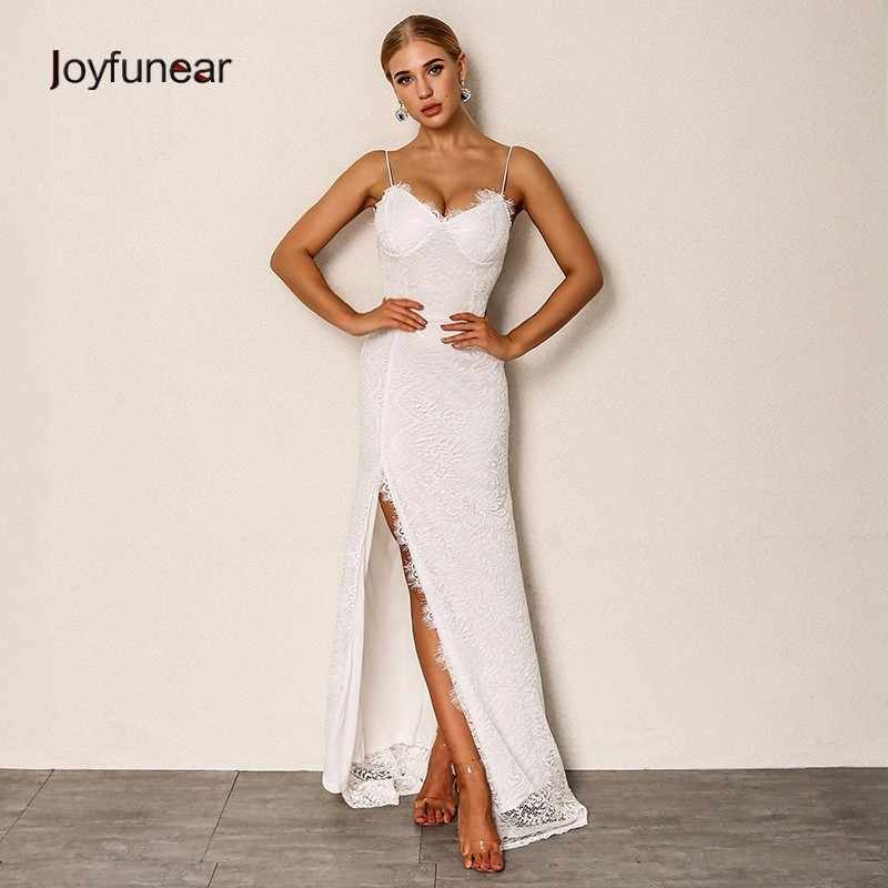 5de30096d1e68 Detail Feedback Questions about side slit white lace long dress club ...