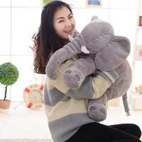 Super Soft Velvet Elephant Plush Doll The Proboscis Elephant With The Baby Birthday Gift 50cm