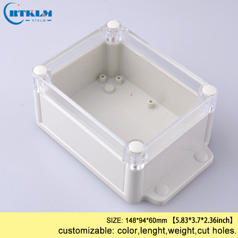 Waterproof plastic electronic project box wall mount junction box diy outdoor abs plastic enclosure boitier box IP68 148*94*60mm|Wire Junction Boxes| |  - title=