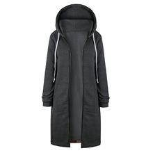 2018 autumn new large size ladys coat with a hat